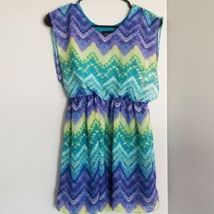 NWT girls 12 colorful summer dress striped kids